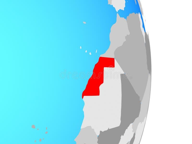 De westelijke Sahara op bol vector illustratie