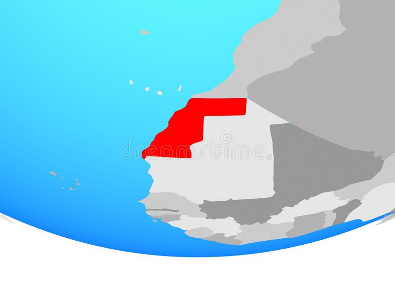 De westelijke Sahara op bol stock illustratie