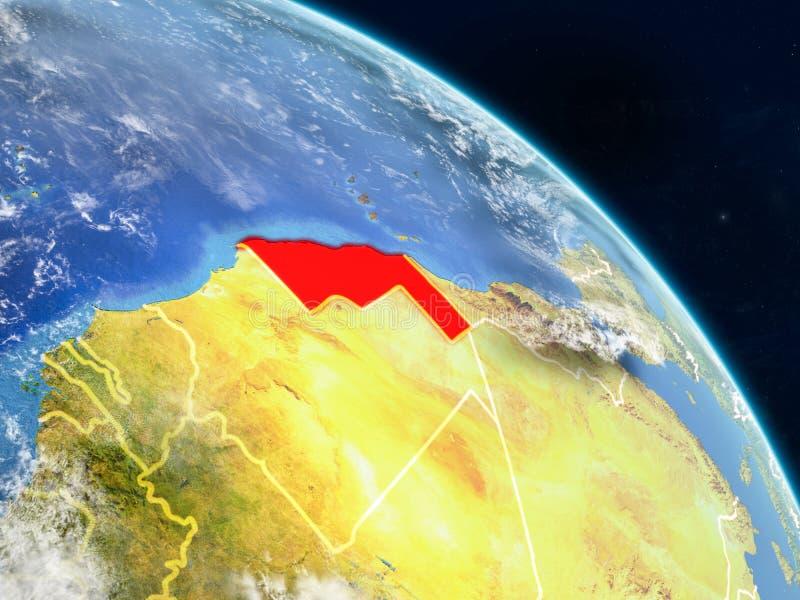 De westelijke Sahara van ruimte stock illustratie