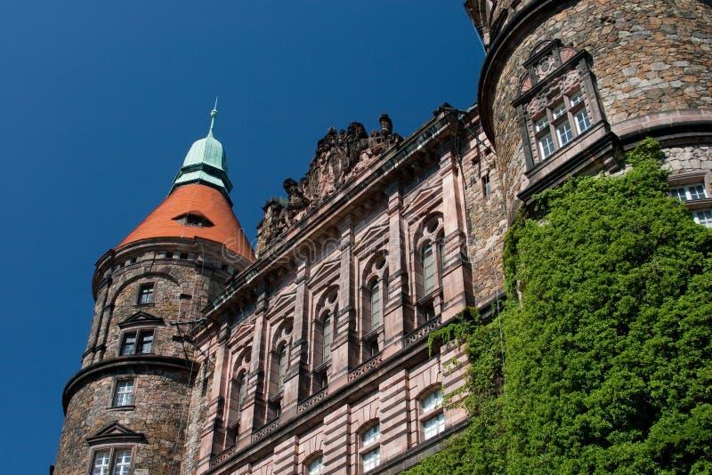 De westelijke voorzijde van het kasteel stock afbeelding