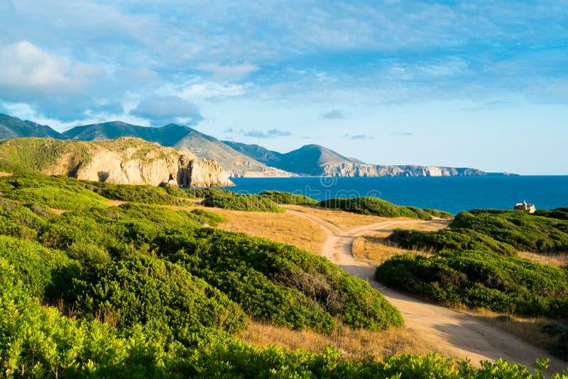 De westkust van Sardinige stock foto