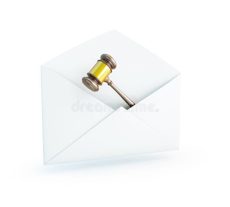 De wet van de post stock illustratie
