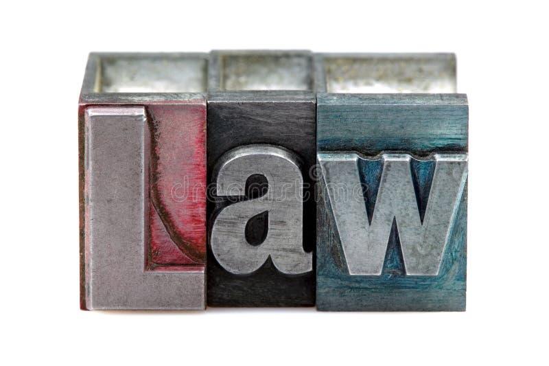 De Wet van het letterzetsel stock afbeelding