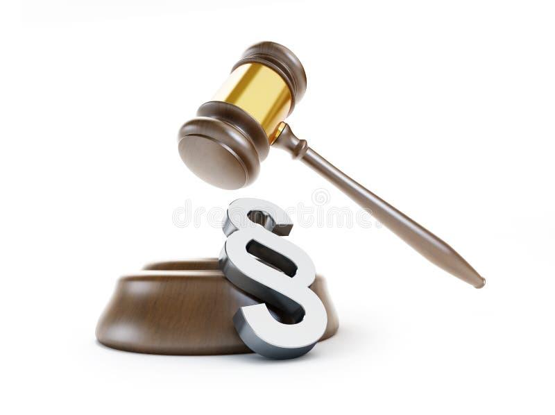 De wet van het paragraafsymbool stock illustratie