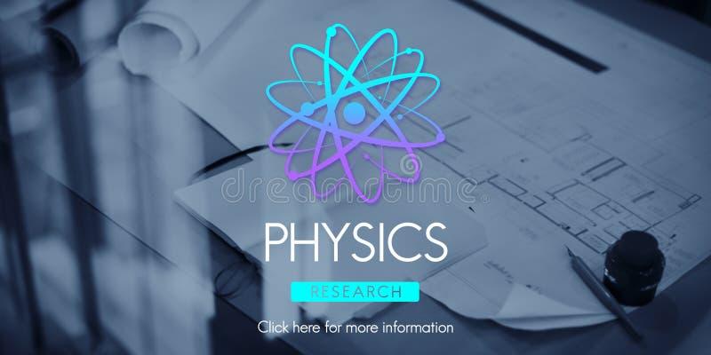 De Wetenschap Atom Energy Concept van de fysicastudie stock fotografie