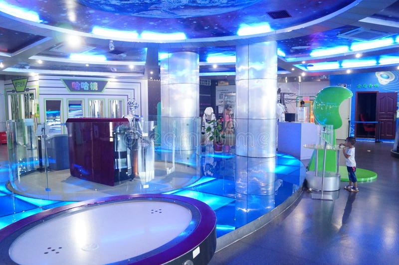 De wetenschap en de Technologiemuseum van Baoan Shenzhen, het Museum van het heelalmodel royalty-vrije stock afbeelding
