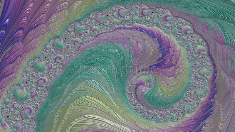 De Wetenschap van Fractals - Ontwerp 2 vector illustratie