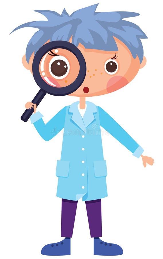 De wetenschapper van het beeldverhaal vector illustratie