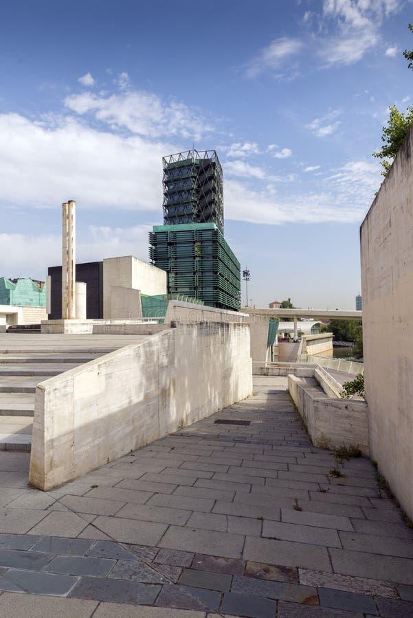 De Wetenschapsmuseum van Valladolid stock afbeeldingen