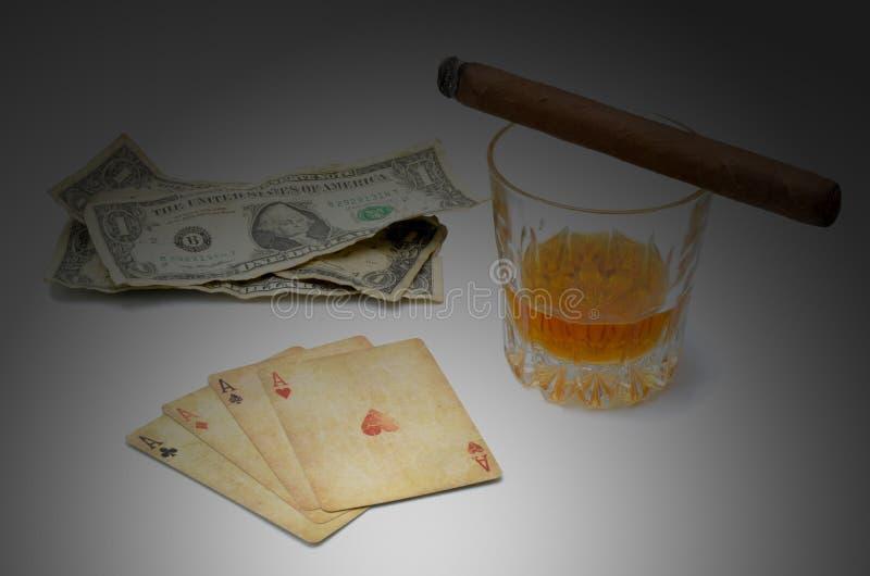 De Whisky van de geldpook stock afbeelding