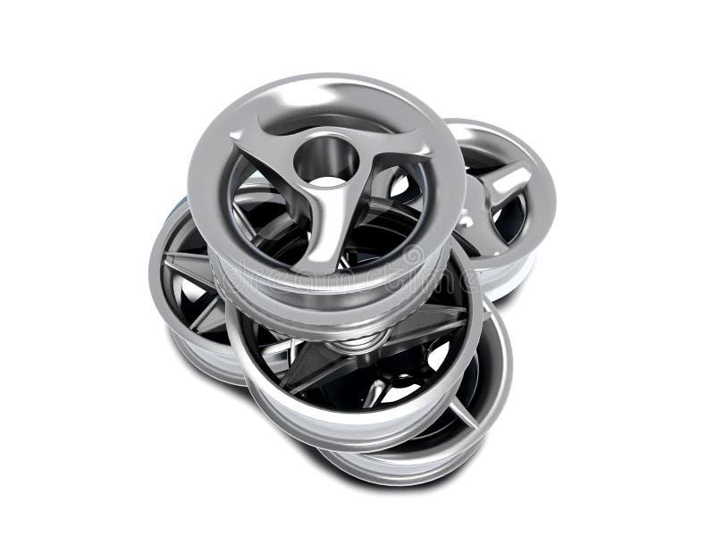 De wielen van de auto stock illustratie