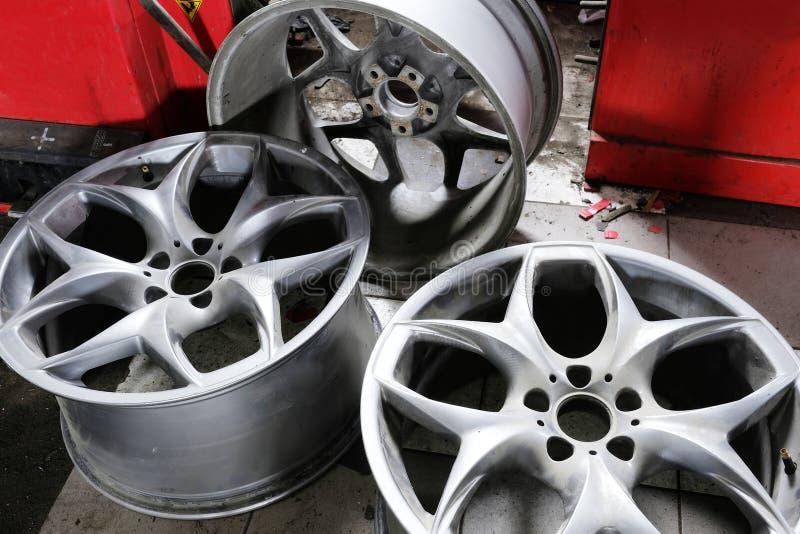 De wielen van de auto royalty-vrije stock afbeelding