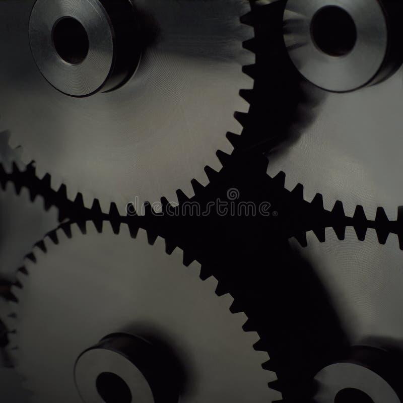De wielen van de industrie stock afbeelding