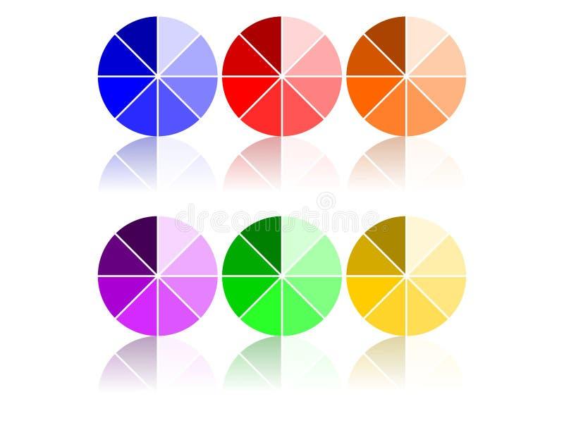 De Wielen van de kleur vector illustratie
