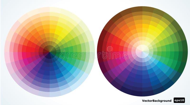 De wielen van de kleur. illustratie vector illustratie