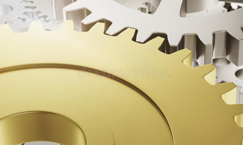 De wielen van het metaaltoestel met exemplaarruimte stock illustratie