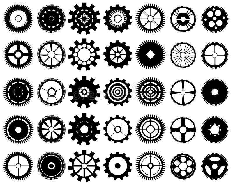 De wielen van het toestel royalty-vrije illustratie