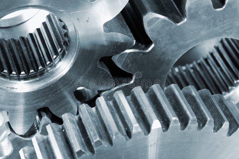 De wielen van het toestel in titanium stock foto