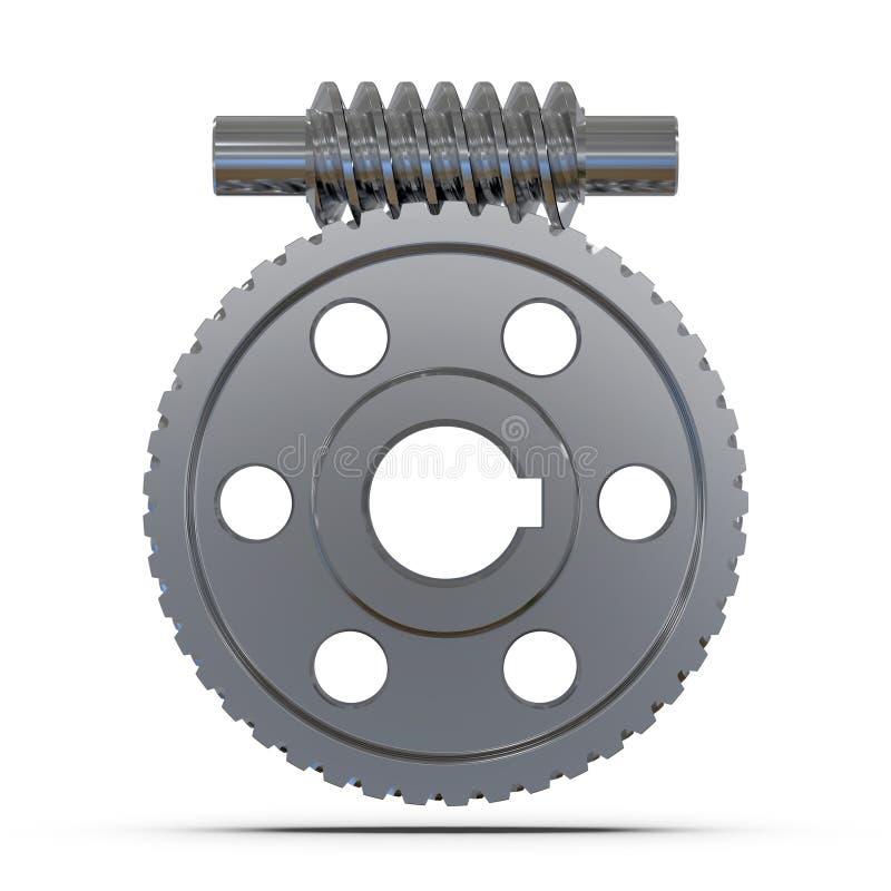 De wielen van de toestelworm Werktuigkundigen voor opleiding het 3d teruggeven vector illustratie