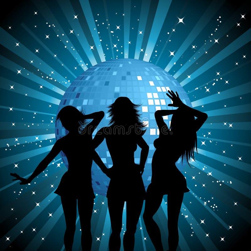 De wijfjes van de disco vector illustratie