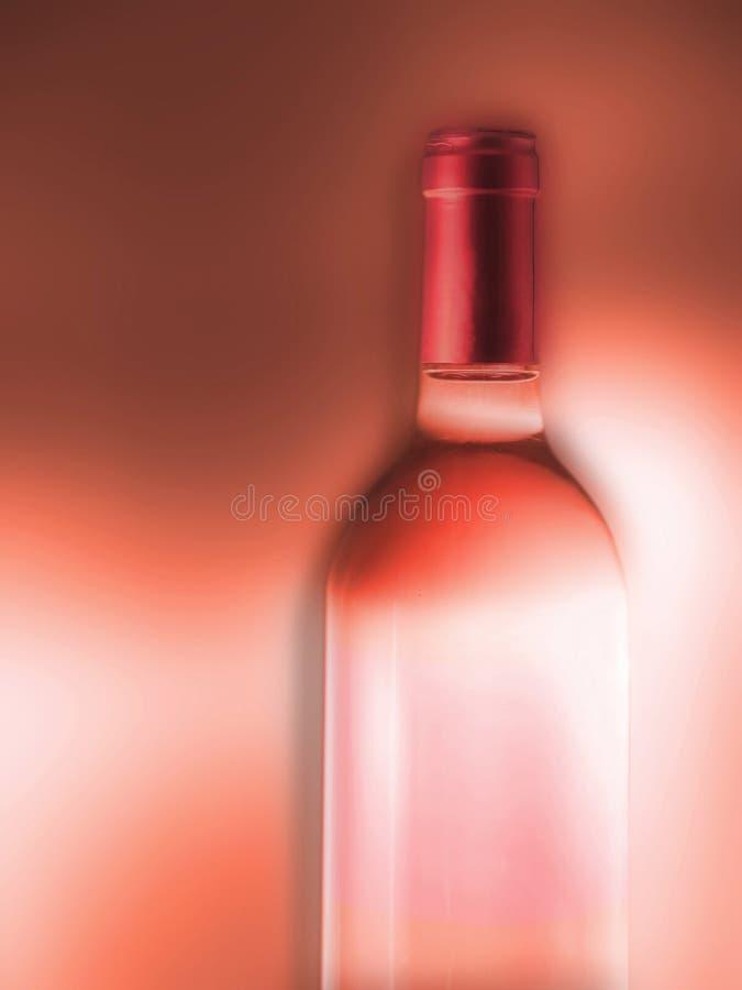 De wijn nam fles toe stock afbeeldingen