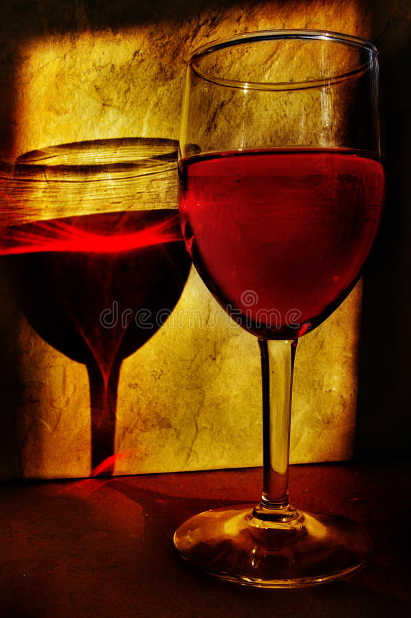 De wijn van de avond royalty-vrije stock afbeeldingen
