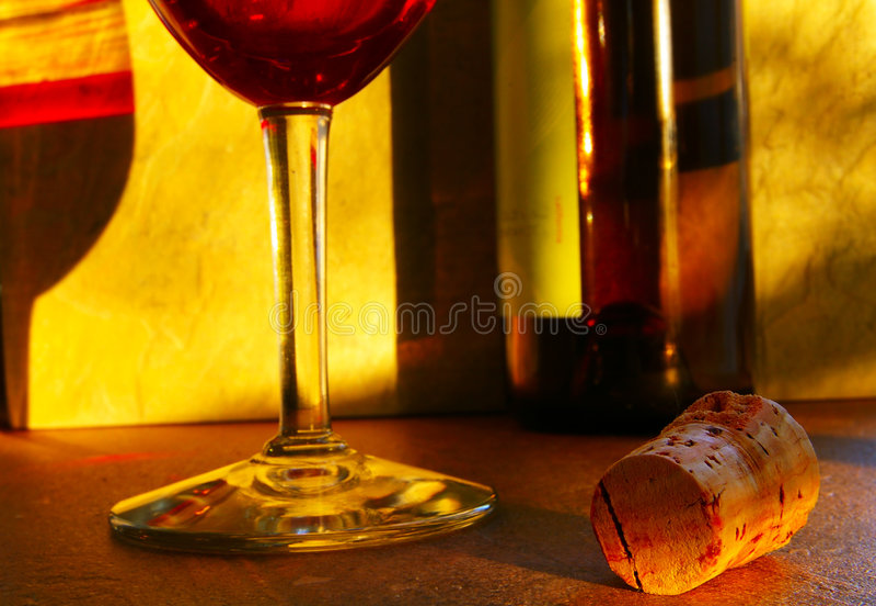 De wijn van de avond stock foto's