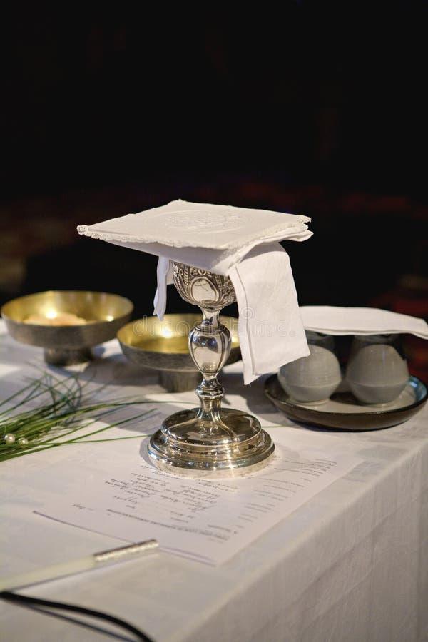 De wijn van de kerk stock foto's