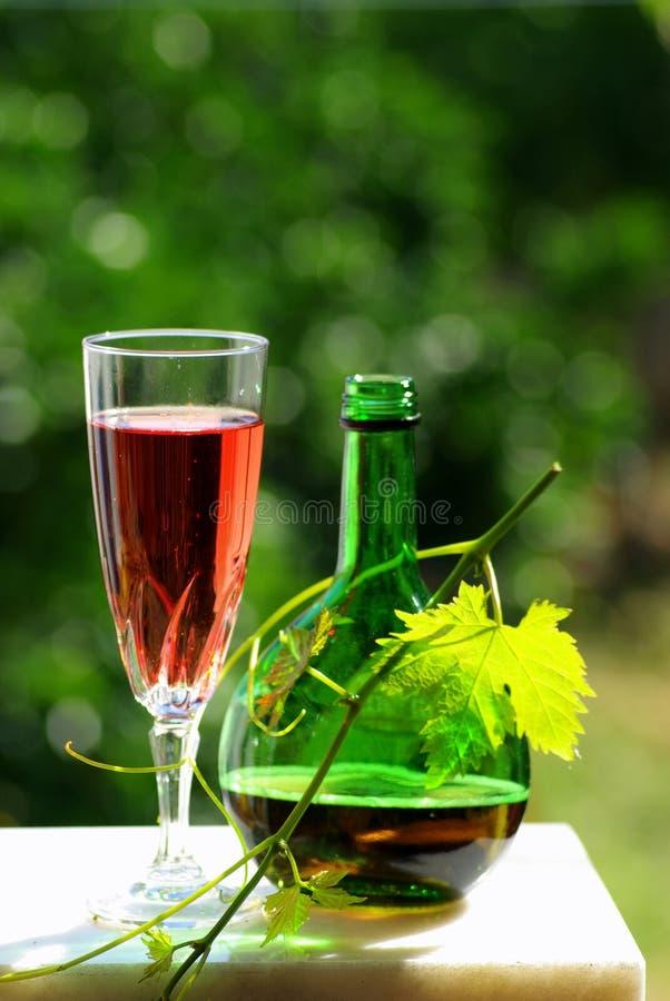 De wijn van de rosé stock fotografie