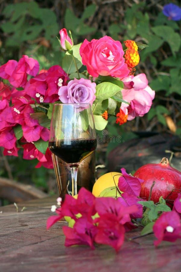 De wijn van de zomer royalty-vrije stock afbeelding