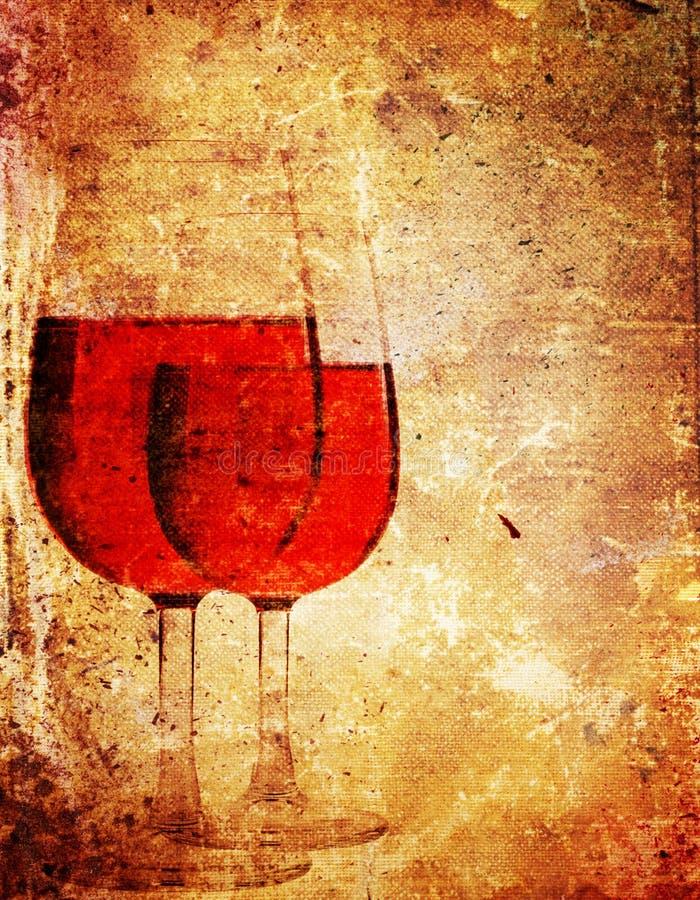 De wijn van het document stock illustratie