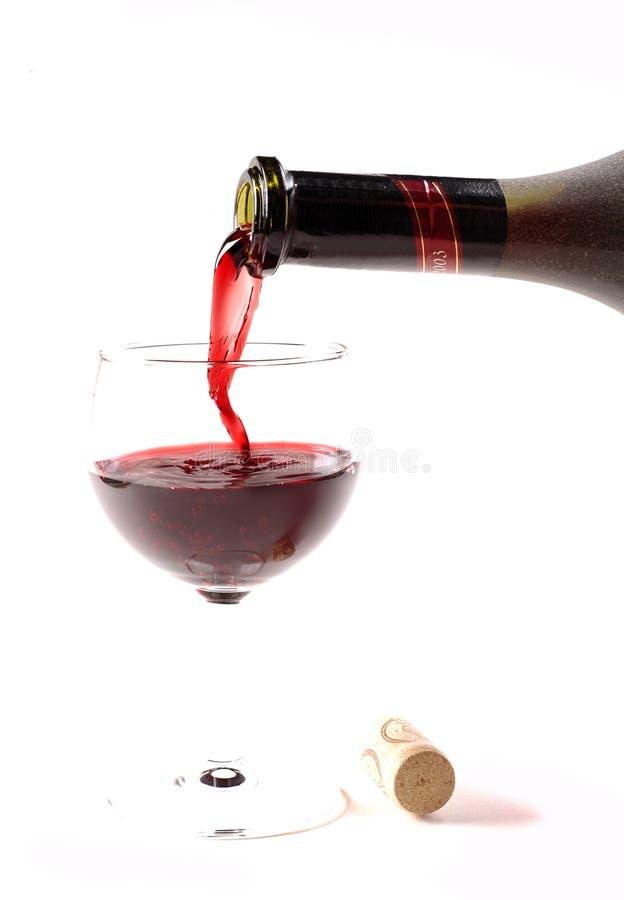 De wijn van Pooring royalty-vrije stock afbeeldingen