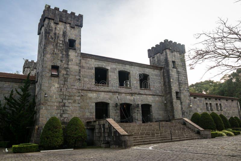 De wijnmakerij en het restaurant van het Lacavekasteel - Caxias do Sul, Rio Grande stock foto