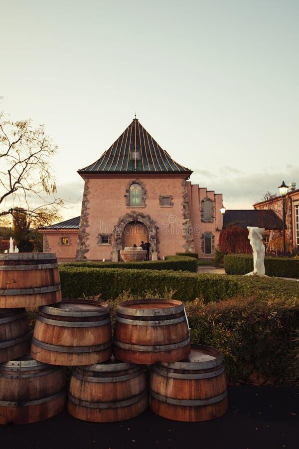 De Wijnmakerij van de Vallei van Napa royalty-vrije stock afbeeldingen