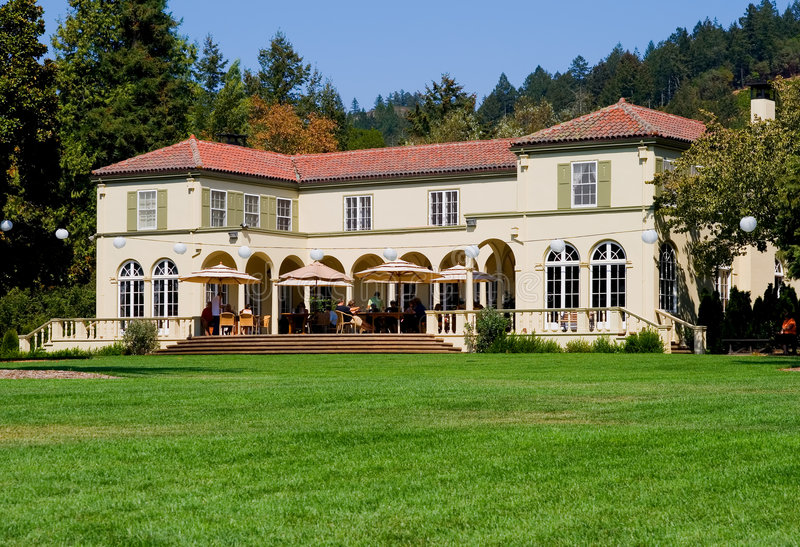 De wijnmakerij van de Vallei van Sonoma stock afbeeldingen