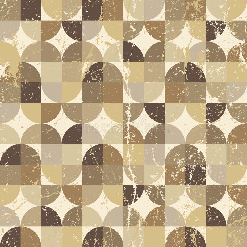 De wijnoogst regelde naadloos patroon, vectorsamenvatting vector illustratie