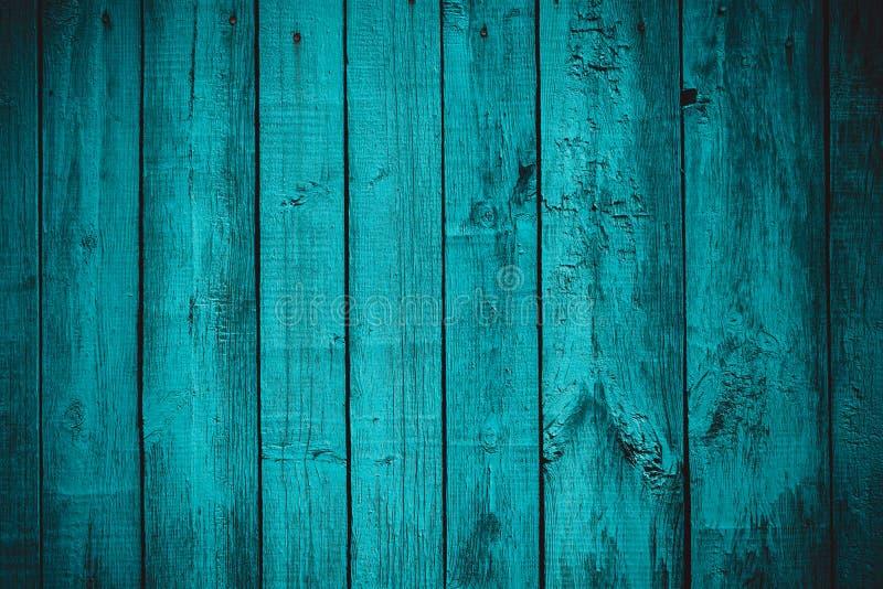 De wijnoogst stileerde blauw planked houten raad stock foto's
