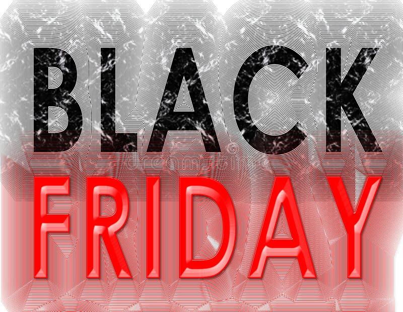 De wijnoogst van Black Friday grunge stock illustratie