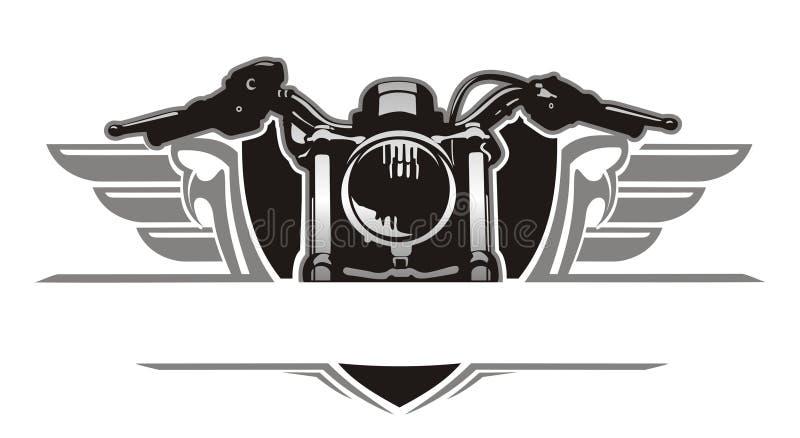 De wijnoogst van de motorfietsvleugel stock illustratie