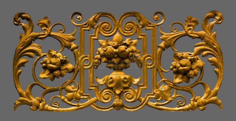 De wijnoogst van de ornamentgipspleister bloemen royalty-vrije stock foto