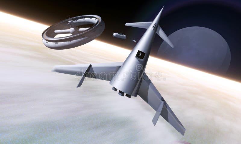 De wijnoogst van het ruimtestation stock illustratie