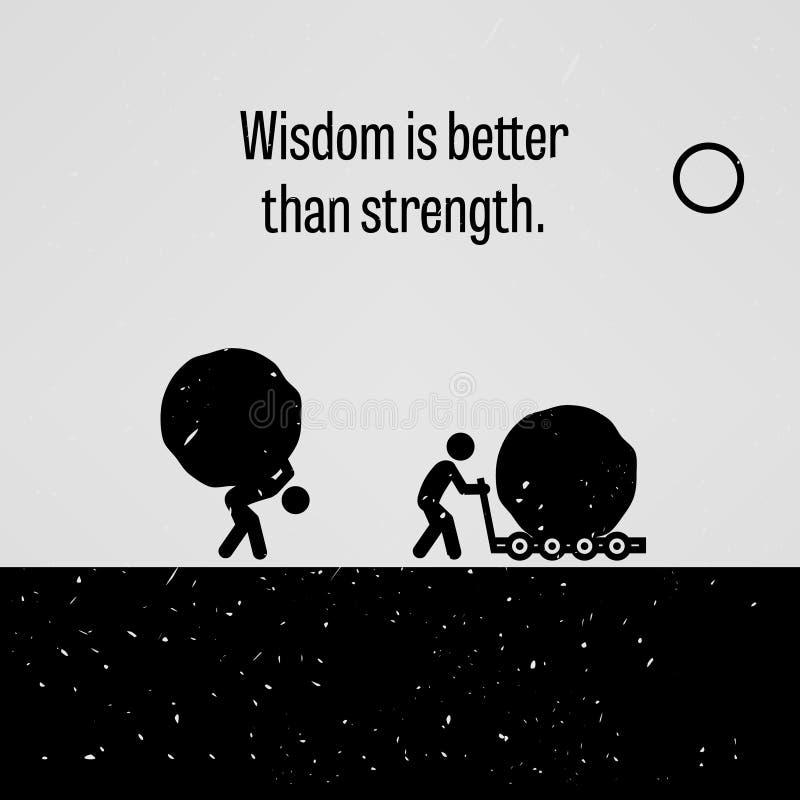 De wijsheid is Beter dan Sterkte stock illustratie