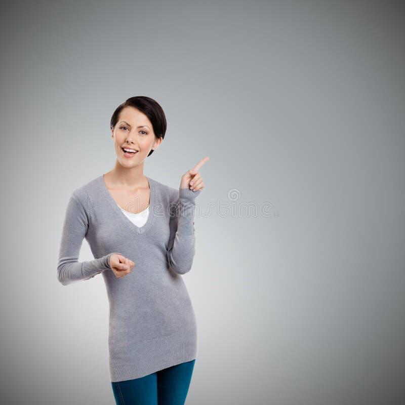 De wijsvinger van Gesturing stock foto