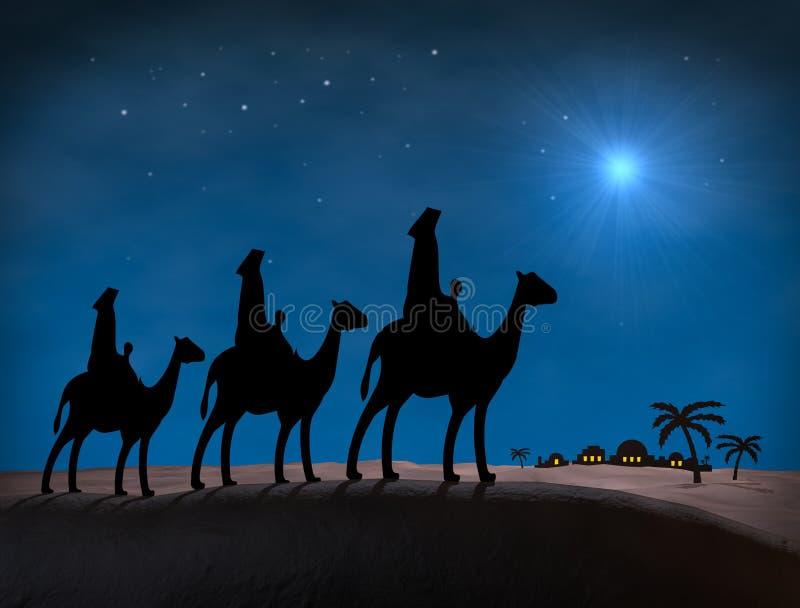 De Wijzen van Kerstmis stock illustratie