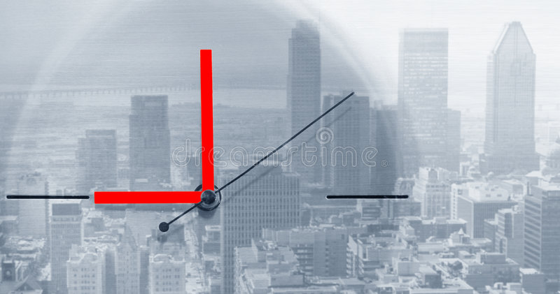 Download De wijzer rond stock illustratie. Illustratie bestaande uit cityscape - 25893