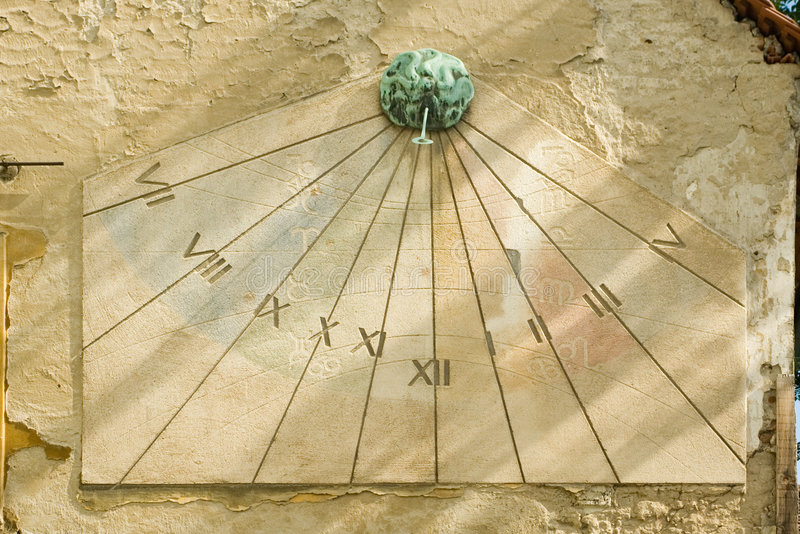 De wijzerplaat van de zon stock foto