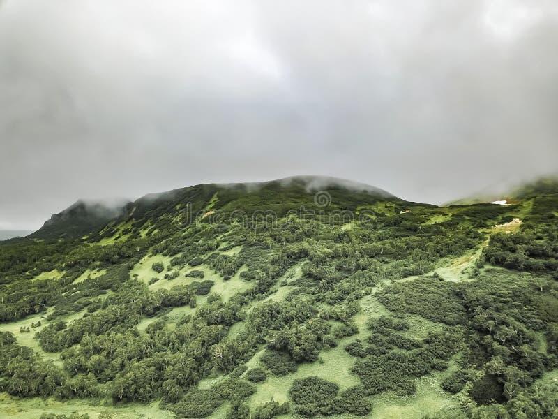 De wilde aard van Kamchatka De bergen van Kamchatka Aard van Kamchatka, Rusland royalty-vrije stock foto