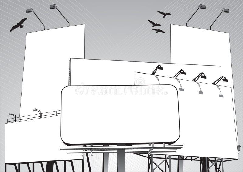 De Wildernis van het aanplakbord in vector stock afbeelding