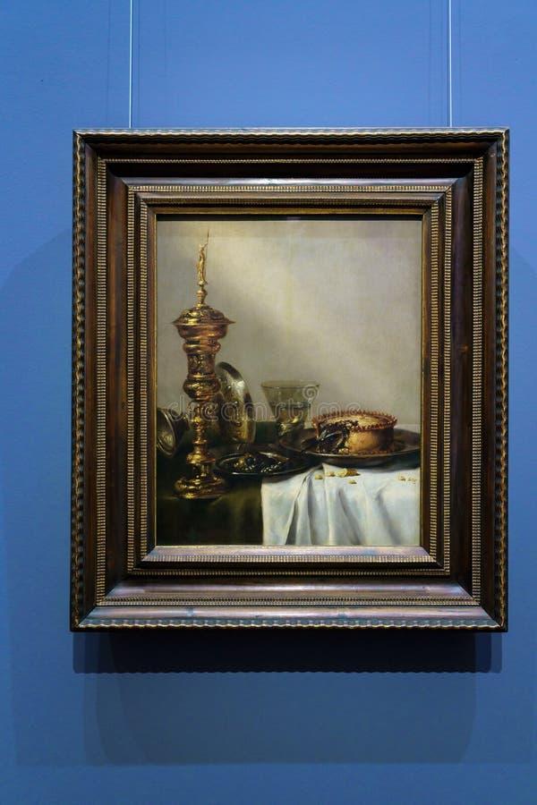 De Willem Claesz Heda Breakfast toujours la vie dans Kunsthistorisches Mus photographie stock libre de droits