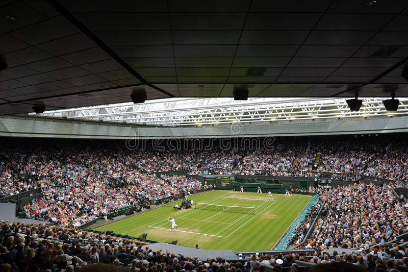 De Wimbledon 2012 dos homens final semi fotos de stock